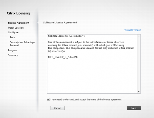 Step-by-Step – Install Citrix License Server 11.14.0 for 7.13